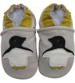 Chaussons cuir souple beige Pingouin Carozoo