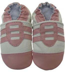 Chaussons cuir souple rose Sport Carozoo