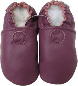 Chaussons cuir souple violet Standard Carozoo