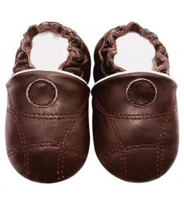 Chaussons cuir souple marron Sport JinWood